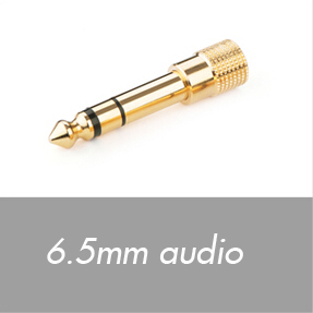 6.5mm audio connectors
