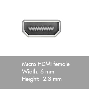Micro HDMI connector