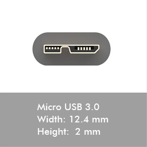 usb 3.0 micro connectors
