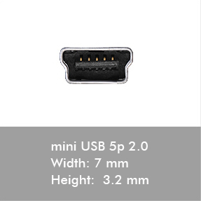 usb mini5p connectors