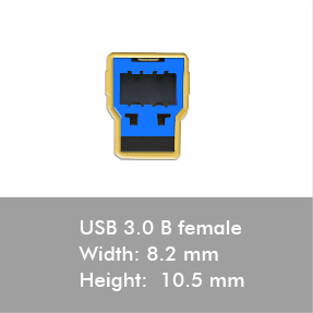 usb 3.0 b male connectors