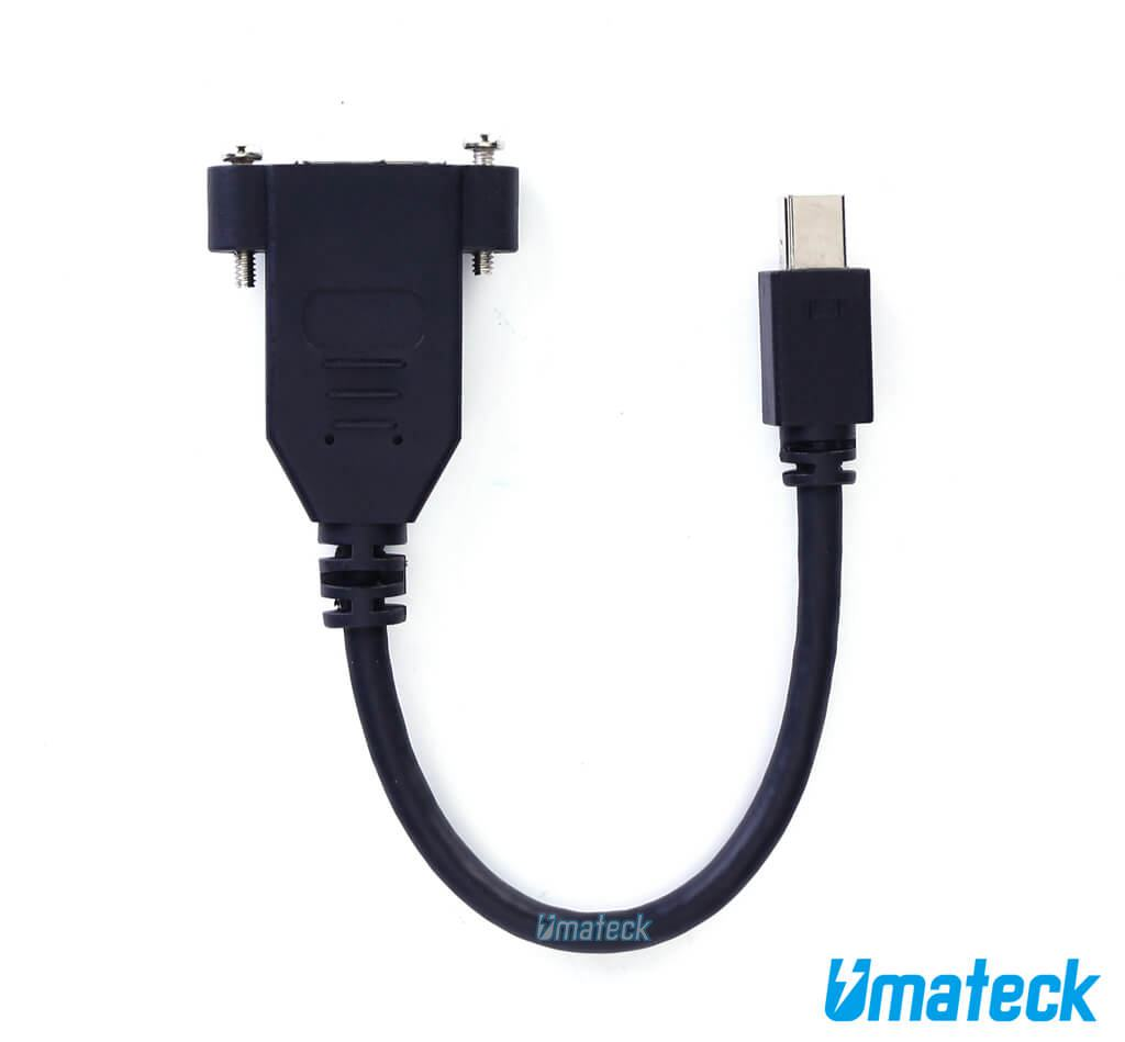 Mini Displayport To Displayport Panel Mount Cable